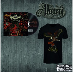 Akani - Through My Darkest Infernal CD Bundle+ T-SHIRT SIZE L