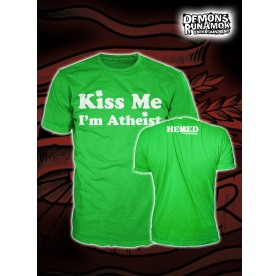 God Free Youth - Kiss Me I'm Atheist T-SHIRT SIZE S-XL
