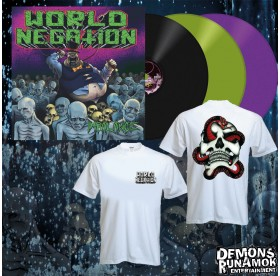 World Negation - Skull & Snake T-SHIRT + LP Bundle 2