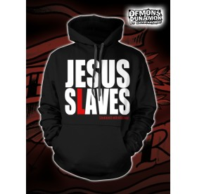 God Free Youth - Jesus Slaves HOODED SWEATER SIZE S