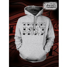 God Free Youth - Think Don't Pray HOODED SWEATER SIZE S