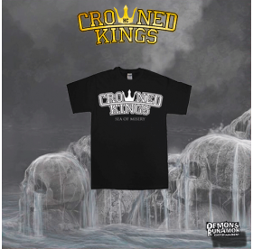 Crowned Kings - Sea Of Misery LOGO T-SHIRT