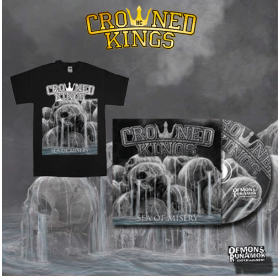 Crowned Kings - Sea Of Misery CD + T-SHIRT PACKAGE