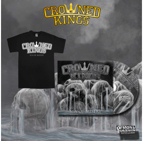 Crowned Kings - Sea Of Misery CD + LOGO T-SHIRT PACKAGE