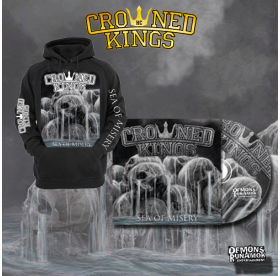 Crowned Kings - Sea Of Misery CD + HOODIE PACKAGE
