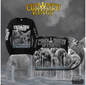 Crowned Kings - Sea Of Misery CD + LONGSLEEVE PACKAGE