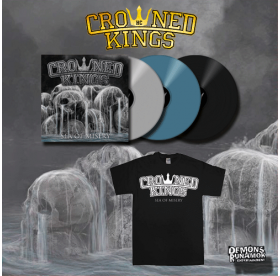 Crowned Kings - Sea Of Misery LP + LOGO T-SHIRT PACKAGE