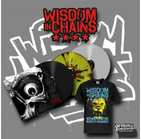Wisdom In Chains - Nothing In Nature Respects Weakness LP + Lion T-SHIRT BUNDLE