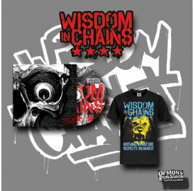 Wisdom In Chains - Nothing In Nature Respects Weakness CD + Lion T-SHIRT BUNDLE