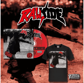 Rawside - Police Terror CD + T-SHIRT PACKAGE