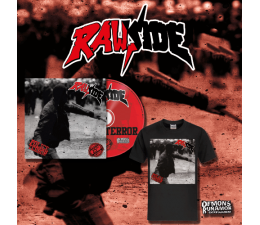 Rawside - Police Terror CD + T-SHIRT PACKAGE 25th Anniversary Edition