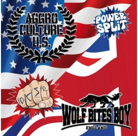 Aggro Culture U.S. / Wolf Bites Boy - Power Split LP