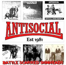 Antisocial - Battle Scarred Skinheads LP