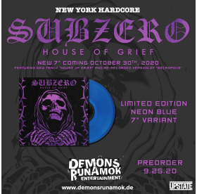 Subzero - House Of Grief 7""